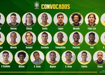 Konačni popis Brazila za Svjetsko prvenstvo 2018 (Twitter)