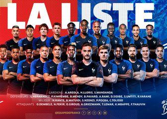 Francuska za SP 2018. (Foto: Twitter)