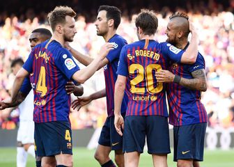 Slavlje Barcelone (Foto: AFP)