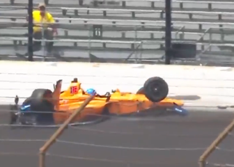 Sudar Fernanda Alonsa na Indyju 500 (Screenshot Twitter)
