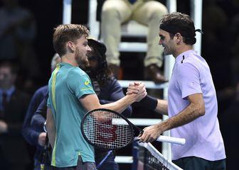 David Goffin i Roger Federer (Foto: AFP)