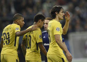 Cavani, Neymar i Mbappe (Foto: AFP)