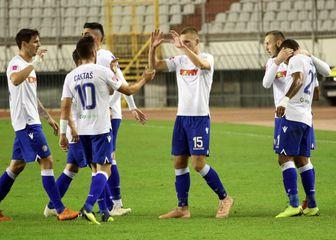 Slavlje igrača Hajduka (Foto: Miranda Čikotić/PIXSELL)