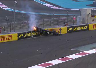 Hulkenberg izletio (Screenshot: Formula 1)