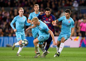 Lionel Messi protiv Slavije (Foto: AFP)