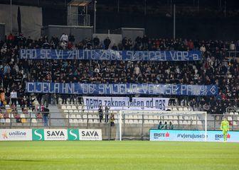 Poruka Armade Dinamu na Rujevici (Foto: Goran Kovacic/PIXSELL)