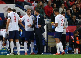 Gareth Southgate s engleskim reprezentativcima (Foto: AFP)