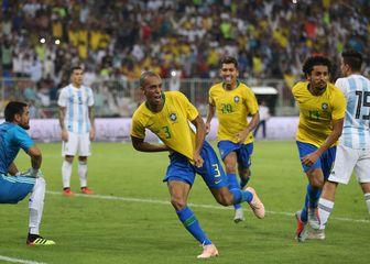 Miranda slavi pogodak Argentini (Foto: AFP)