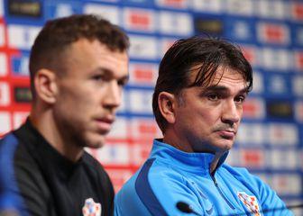 Ivan Perišić i Zlatko Dalić (Foto: Yui Mok/Press Association/PIXSELL)