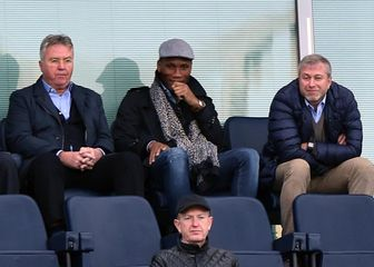 Guus Hiddink, Didider Drogba i Roman Abramovič (Foto: Darren Walsh/Press Association/PIXSELL)