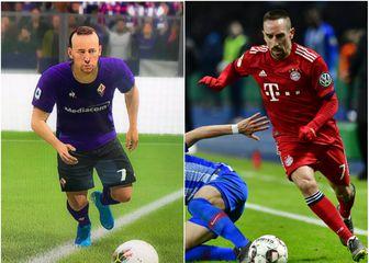 FIFA Ribery vs. stvarni Ribery (Foto: Screenshot / AFP)
