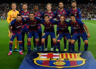 Momčad Barcelone (Foto: AFP)