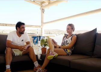 Marcos Baghtatis i Karolina Šprem