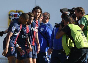 Kylian Mbappe, Neymar i Edinson Cavani (Foto: AFP)