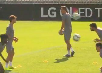 Joao Felix i Diego Costa na treningu (Screenshot)