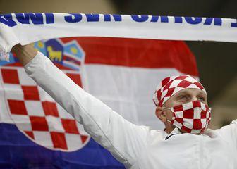Hrvatski navijači u Bratislavi.