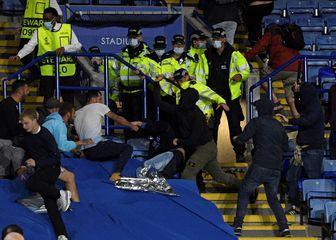Sukob navijača na utakmici Leicester - Napoli