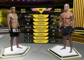 Nick Diaz protiv Andersona Silve.