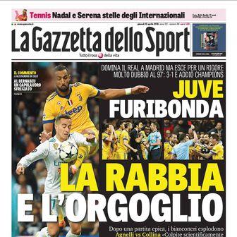 Naslovnice talijanskih medija nakon Real - Juve