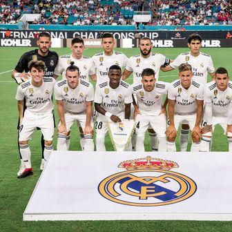 Momčad Reala uoči pripremne utakmice s Man Utd-om (Foto: AFP)