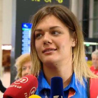 Sandra Perković na dočeku u Zagrebu