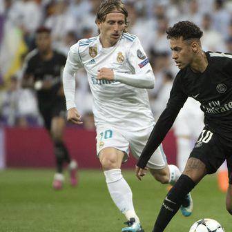 Luka Modrić i Neymar (Foto: AFP)