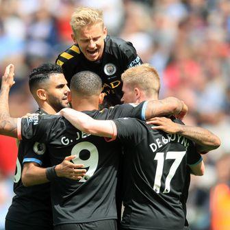 Slavlje igrača Manchester Cityja (Foto: Adam Davy/Press Association/PIXSELL)