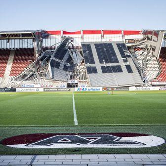 Vjetar srušio krov stadiona AZ Alkmaara (Foto: AFP)