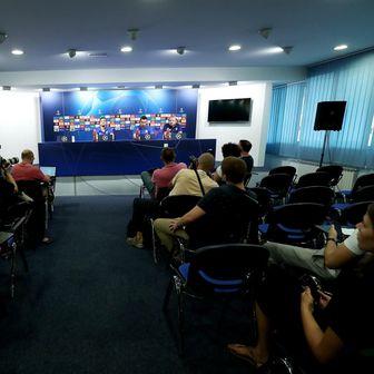 Konferencija za medije u Dinamu (Foto: Sanjin Strukić/PIXSELL)
