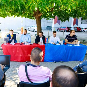 Konferencija za medije o izgradnji tematskog parka na Poljudu (Foto: Milan Šabić/PIXSELL)