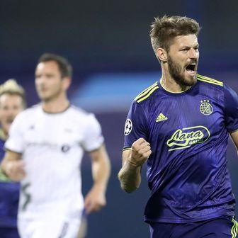 Bruno Petković slavi pogodak (Foto: Sanjin Strukic/PIXSELL)