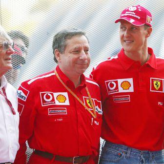 Bernie Ecclestone, Jean Todt i Michael Schumacher