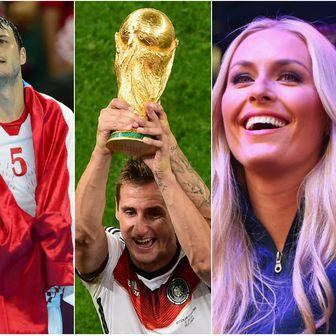 Stipe Miočić, Domagoj Duvnjak, Miroslav Klose, Lindsey Vonn (Foto: AFP)