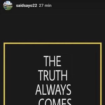 Saidova reakcija na Instagramu nakon što je saznao da će ga Hajduk kazniti (Screenshot: Facebook)