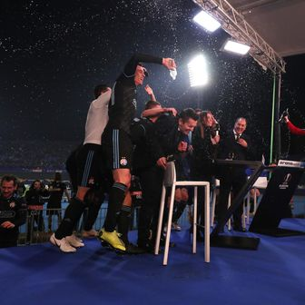 Igrači Dinama upali u studio Arenasporta (Foto: Goran Stanzl/PIXSELL)