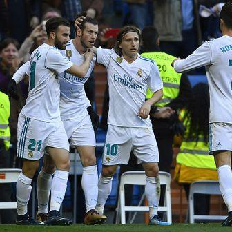 Borja Mayoral, Luka Modrić, Gareth Bale i Cristiano Ronaldo (Foto: AFP)