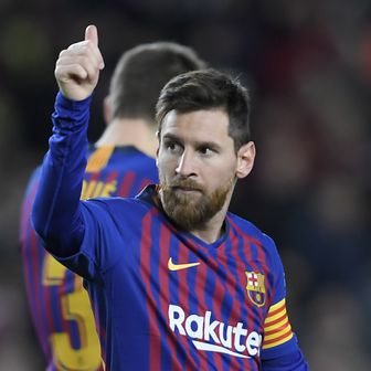 Lionel Messi slavi pogodak (Foto: AFP)