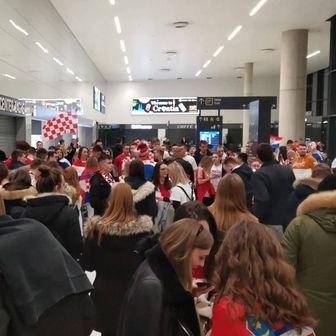 Doček Kauboja u zagrebačkoj zračnoj luci