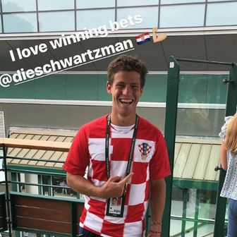 Diego Schwartzman u dresu Hrvatske (Instagram)