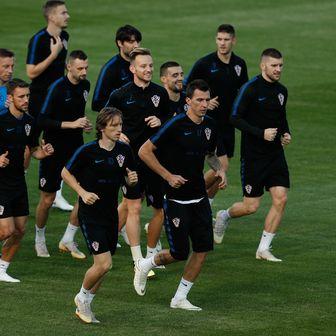 Trening hrvatskih nogometaša (Foto: AFP)