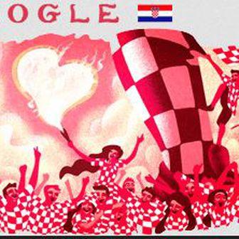 Google oduševljen hrvatskim navijačima (Screenshot)