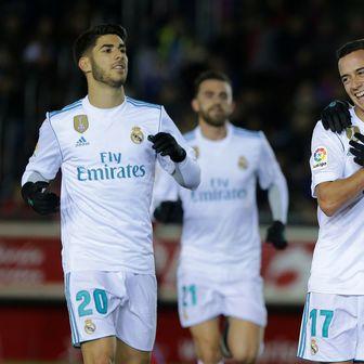 Marco Asensio, Lucas Vazquez, Gareth Bale (Foto: AFP)