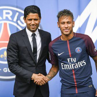 Predsjednik PSG-a i Neymar (Foto: AFP)