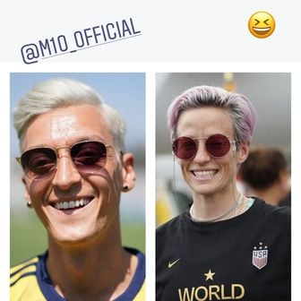 Aubameyangova usporedba (Foto: Instagram)