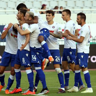 Hajduk slavi (Foto: Ivo Cagalj/PIXSELL)