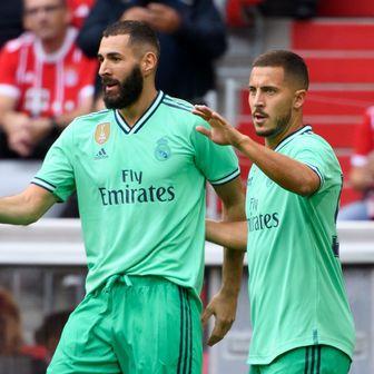 Karim Benzema i Eden Hazard (Foto: Sven Hoppe/DPA/PIXSELL)