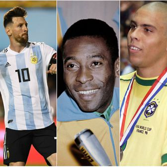 Messi, Pele, Ronaldo i Zidane (Foto: AFP)