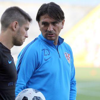 Zlatko Dalić i Andrej Kramarić (Photo: Goran Kovacic/PIXSELL)