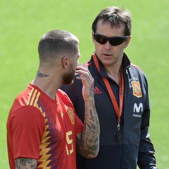 Sergio Ramos i Julen Lopetegui (Foto: AFP)