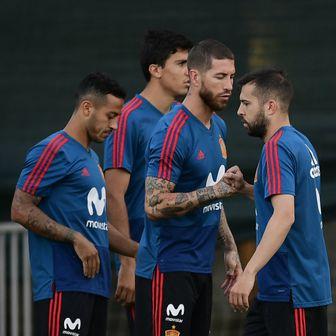 Španjolci na treningu (Foto: AFP)